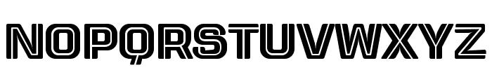 Letrera Caps Inline Font LOWERCASE