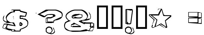 Letter Set B Font OTHER CHARS