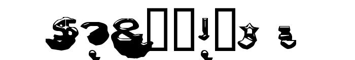 Letter Set C Font OTHER CHARS