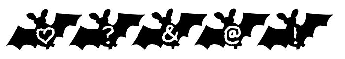 LetterBat AH Font OTHER CHARS
