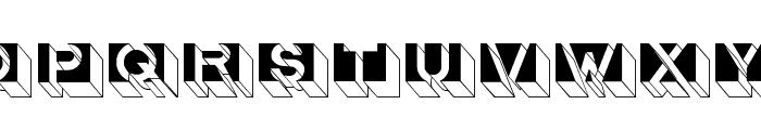 LetterBuildings Font UPPERCASE