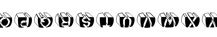 LetterBuildingsRoundContrast Font LOWERCASE