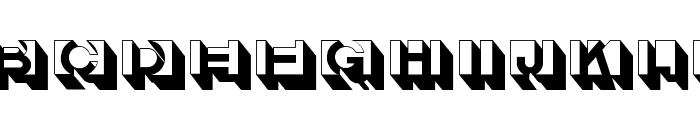 LetterBuildingsTHREE Font UPPERCASE