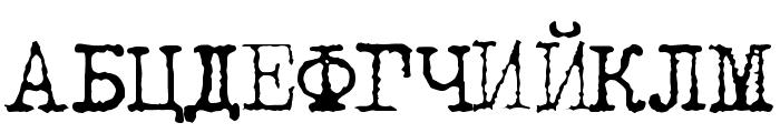 LetteraTrentadue Translit Font UPPERCASE