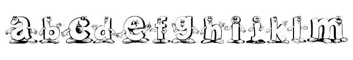 Letterbeings Font LOWERCASE
