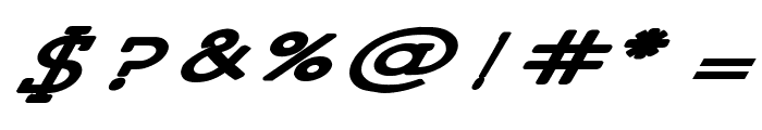 Lettering Set New Italic Font OTHER CHARS
