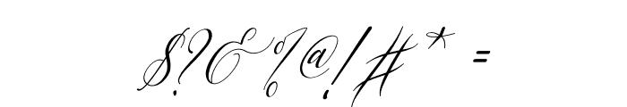 Letternisa Slant Font OTHER CHARS