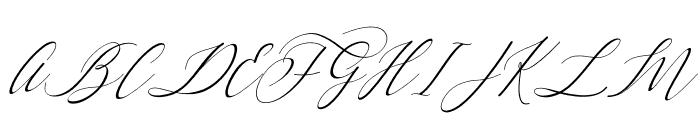Letternisa Slant Font UPPERCASE