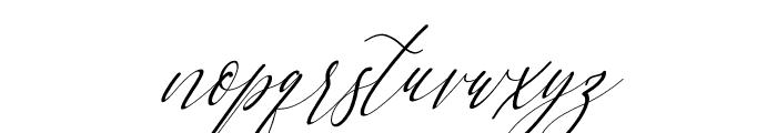 Letternisa Slant Font LOWERCASE