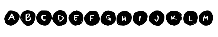 Letters in Circles Book Regular Font LOWERCASE