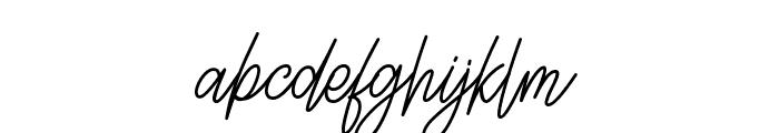 Lettia Script Font LOWERCASE