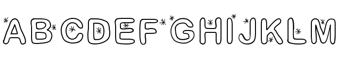 Lettreetoile Font UPPERCASE