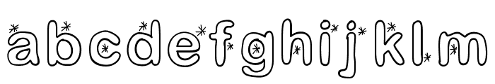 Lettreetoile Font LOWERCASE