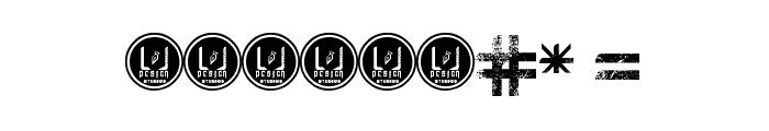 Leven - LJ-Design Studios Grunge Font OTHER CHARS