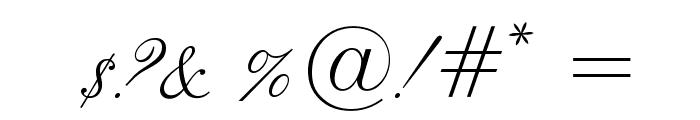 LeviScriptOpti Font OTHER CHARS