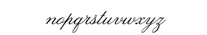 LeviScriptOpti Font LOWERCASE