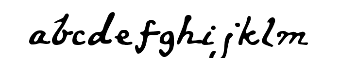 LewisCarroll Font LOWERCASE