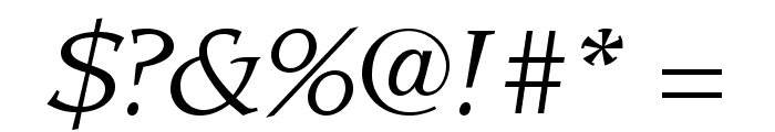 LeawoodStd-BookItalic Font OTHER CHARS