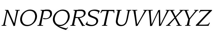 LeawoodStd-BookItalic Font UPPERCASE