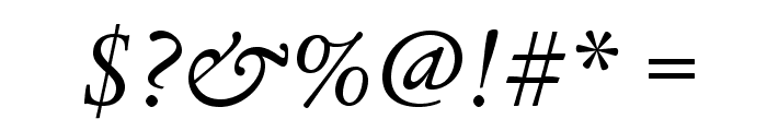 LegacySerifStd-BookItalic Font OTHER CHARS