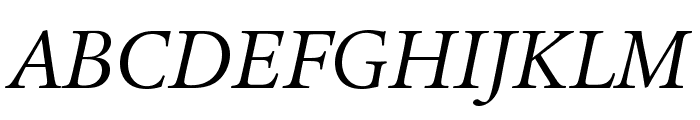 LegacySerifStd-BookItalic Font UPPERCASE