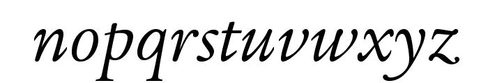 LegacySerifStd-BookItalic Font LOWERCASE