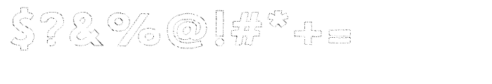 Le Havre Hand Outline Dot Font OTHER CHARS