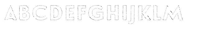 Le Havre Hand Outline Dot Font UPPERCASE