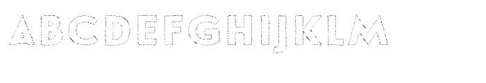 Le Havre Hand Outline Dot Font LOWERCASE