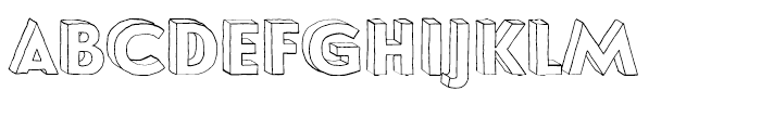 Le Havre Hand Wireframe Font UPPERCASE