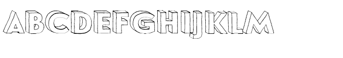 Le Havre Hand Wireframe Font LOWERCASE