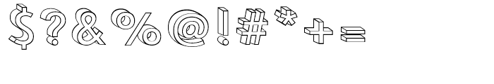 Le Havre Layers 3d Wireframe Font OTHER CHARS