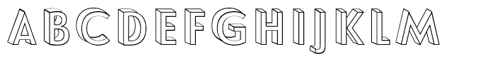 Le Havre Layers 3d Wireframe Font UPPERCASE