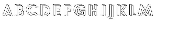 Le Havre Layers 3d Wireframe Font LOWERCASE