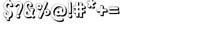 LeOsler Rough Shadow Regular Font OTHER CHARS