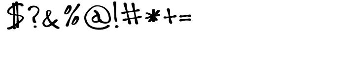 Leah Regular Font OTHER CHARS