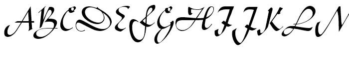 Legende Regular Font UPPERCASE