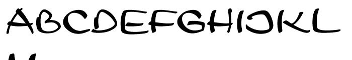 Leger Standard D Font UPPERCASE