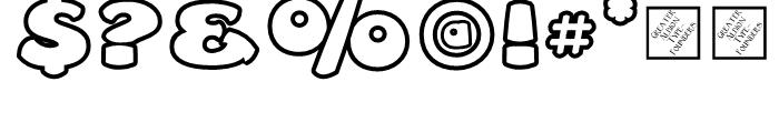 Leibix Outline Font OTHER CHARS