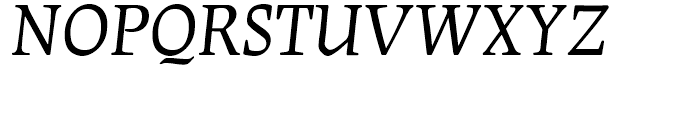 Leipziger Antiqua Italic Font UPPERCASE