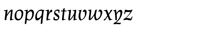 Leipziger Antiqua Italic Font LOWERCASE