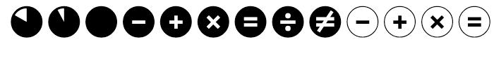 Leitura Symbols Circles Font UPPERCASE