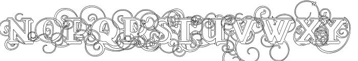 Lementa Outline Font UPPERCASE