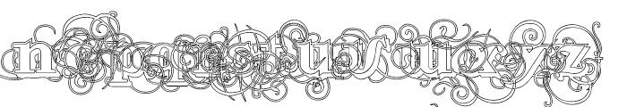 Lementa Outline Font LOWERCASE