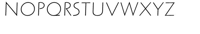Letraset Arta Light Italic Font UPPERCASE