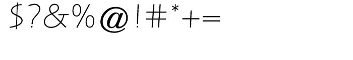 Letraset Arta Light Font OTHER CHARS
