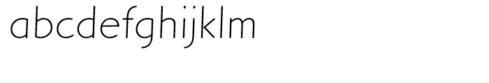 Letraset Arta Light Font LOWERCASE