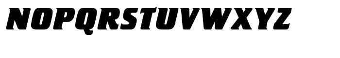 Letraset Crillee Extrabold Italic Font UPPERCASE