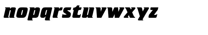 Letraset Crillee Extrabold Italic Font LOWERCASE