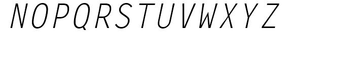 Letter Gothic L Regular Italic Font UPPERCASE